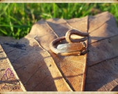 Electroformed, Quartz + Copper Statement Ring 7 - Handmade Gemstone Jewellery - Healing - Meditation - Yoga - Holistic - Natural - Crystals