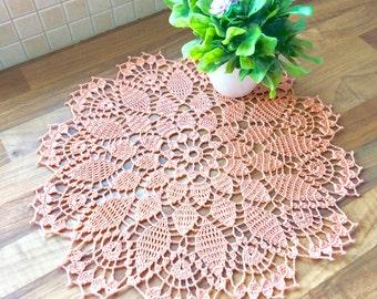 Crochet Doily - Peach