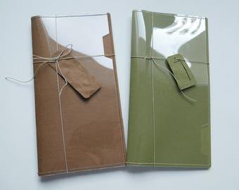 Lavable papier et acétate de poche insert - pour un carnet de voyage