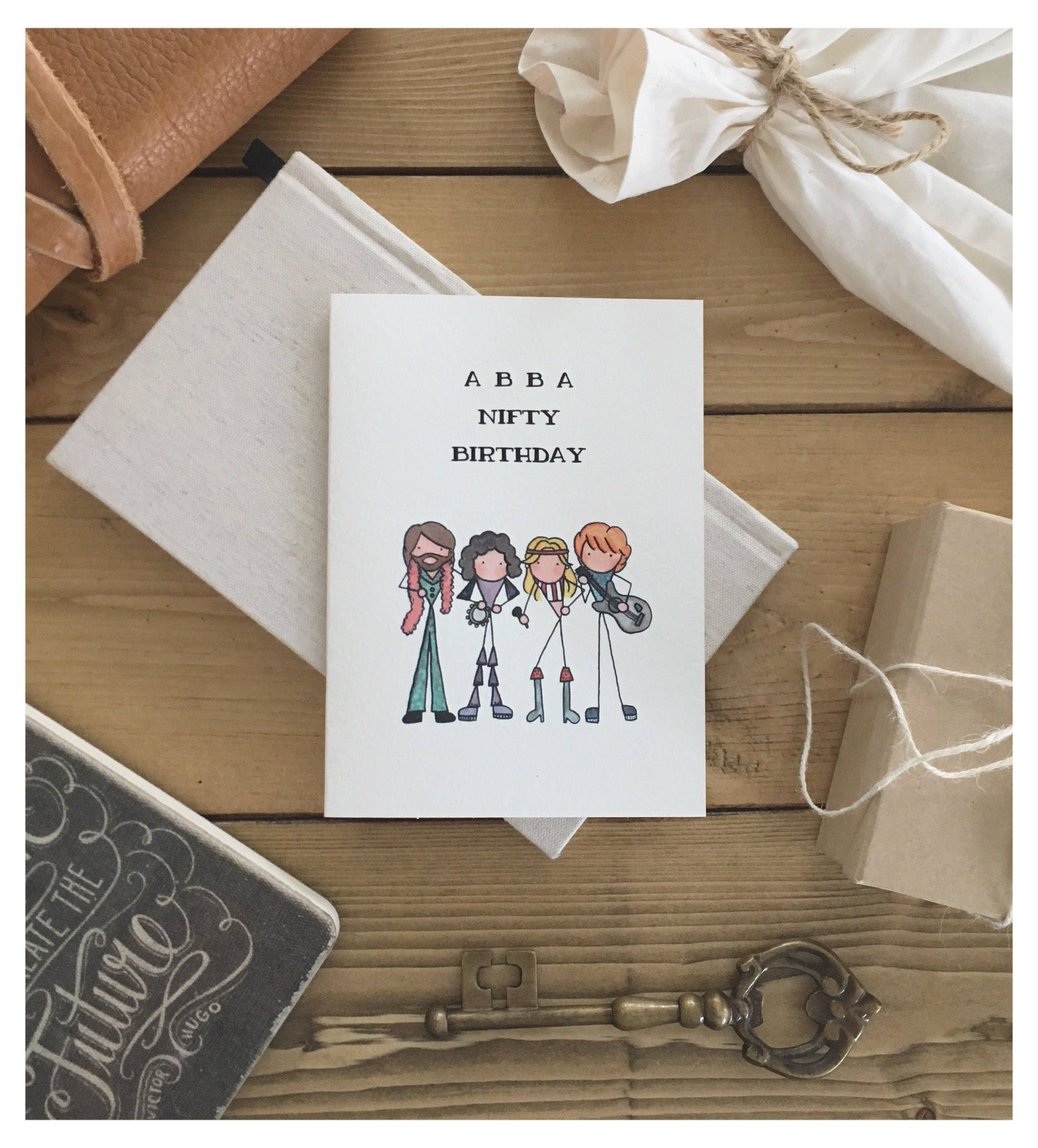 ABBA CARD // Birthday Card, Greeting Card, Funny Card, 50th Birthday,  Punny, Pun Card, Happy Birthday, Funny Birthday Card, Abba, Cute Card