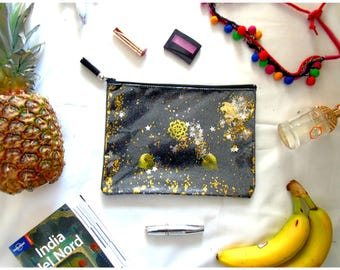 Magic clutch bag black with stars and sequins shakerabili