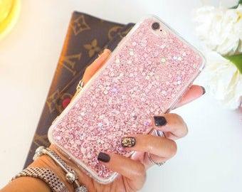 Rose Pink glitter iphone 6 case glitter iphone 6s case glitter iphone 6 plus case glitter iphone 6s plus case glitter iphone SE case glitter