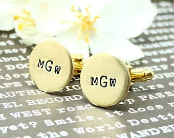Personalized Cufflinks, Monogram Cufflink, Anniversary Gift, Wedding Gift, Groomsman Gift, Custom Cufflink, boy friend gift, for husband.