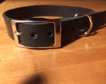 Leather buckle collar, Side Release or Tongue Buckle, Custom Made, Leather dog collar, Various colors, sizes, widths