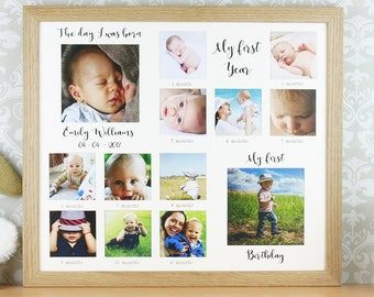 First year frame | Etsy