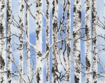 Tree Fabric, Outdoor Nature Fabric, Tree fabric, Birch Fabric, Fabric with trees, by Timeless Treasures, 5350