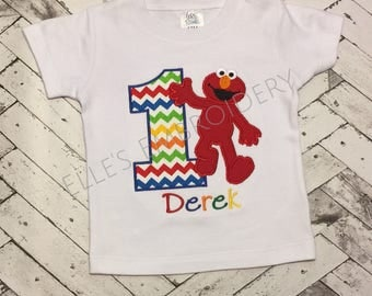 Elmo birthday shirt/ Elmo birthday/ Elmo birthday outfit