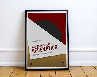 FREE SHIPPING** Shawshank Redemption - Poster, Movie Poster, Shawshank, Shawshank Print, Shawshank Poster, Minimalist Poster, Movie, Poster