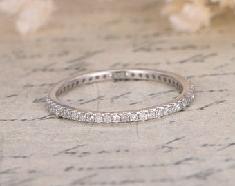 New Year Diamond Full  Eternity Wedding Band 14K Gold Ring Anniversary Band Diamond Engagement Diamond Band Diamond Wedding Bands Women