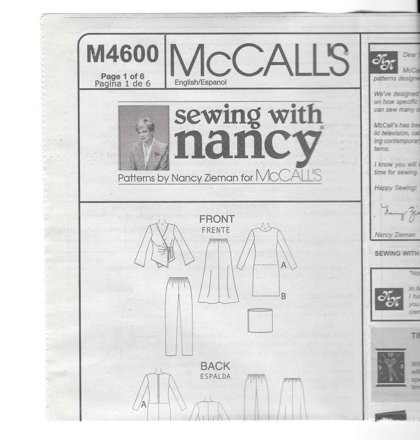 Mccalls m4600 sewing with nancy easy knit wardrobe patterns for 295 shipping jeuxipadfo Image collections