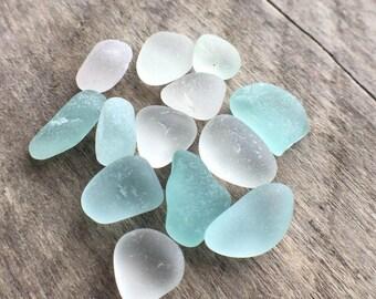 Blue & White Sea Glass Supplies