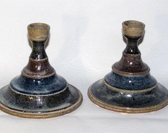 Pair Vintage Ceramic Candlestick Holders, Candleholder