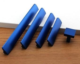 6.3'' 5'' 3.78'' 2.5'' Bright Blue Cabinet Pulls Door Handles Modern Dresser Drawer Pulls Handle Knob Kitchen Hardware Decor 160 128 96 64mm