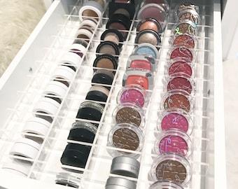 Acrylic makeup organizer organiser storage divider set