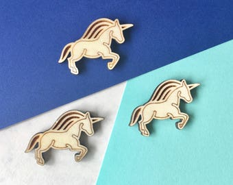 Unicorn Needle Minder Lasercut FSC Certified Poplar Needleminder Unicorn Wooden Needlepoint Accessory Modern Notions Unicorn Embroidery