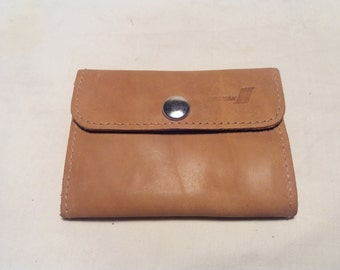 Vintage Light Brown Leather Ladies' Wallet - NEW