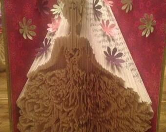 Girl in dress pattern