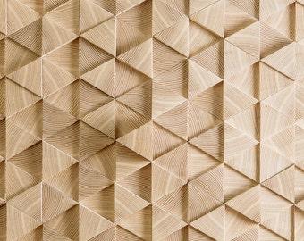 Wooden mosaic - 3D wall - wooden tiles - 3d wooden tiles