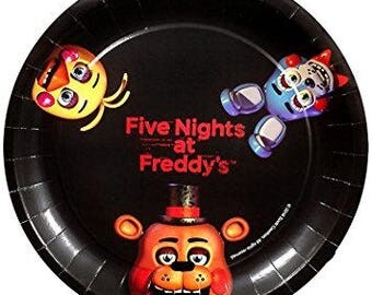 FNAF Party Plates/Five Nights At Freddy's Party Supplies Plates/Five Nights at Freddys Dinner Plates 8 pack