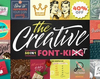 50 in 1 - The Creative FONT - 40%OFF