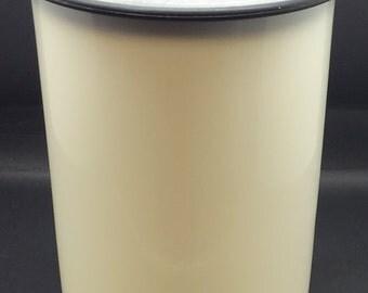 Vintage Tupperware Utensils Holder Black Rim Kitchen Counter Storage One Touch A Mold # 2422B