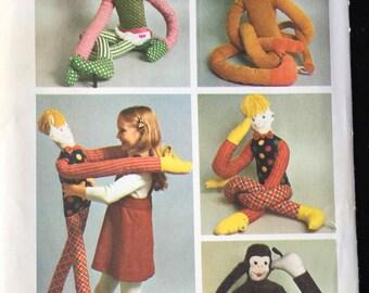 Simplicity Sewing Pattern 5948 Set Of Stuffed Toys Large Child Like Size Boy Girl Lion Monkey Dance Partner Uncut New FF