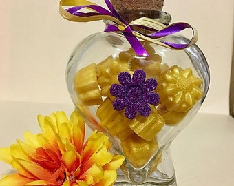 Jar fill with Soap / any occasion/ Crystal Jars/ Soap/ Handmade Soap
