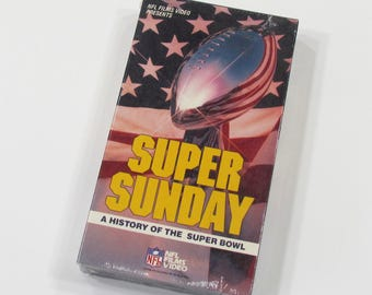 NFL Films Super Sunday A History of the Super Bowl VHS Home Video 1980s Football Mint Condition