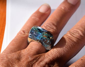 Wood and Epoxy Resin Ring