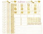 Gold Sugar Paper Planner Stickers