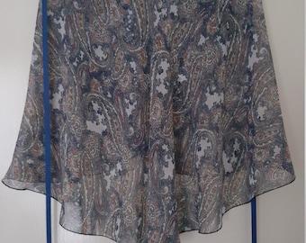 Ballet wrap skirt: Cashmere Paisley