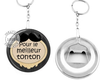Keychain bottle opener /pour best Uncle / gift/Christmas/birthday