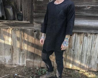 Black long sleeve fleece shirt - Long sleeve fleece shirt