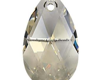 Swarovski Crystal Beads 6106 CRYSTAL SILVER SHADE 16MM Pear Shaped Pendant 1 Pc