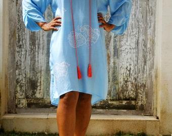 Beach tunic/Tassel beach short dress/Beach cover up/Boho Summer tunic *  SEASIDE TUNIC