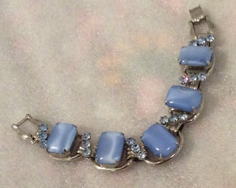 Lovely Juliana style bracelet - periwinkle blue with light sapphire accents