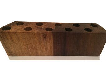 Essential Oil Rollerball Holder with 10 Holes, Natural Finish   SKU: 229