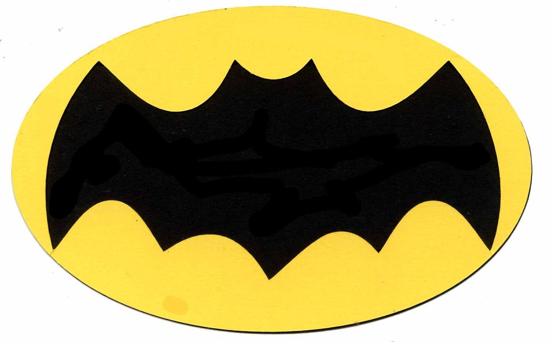 1966 batman tv show symbol logo scrapbook die cut from 110 buycottarizona