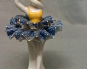 Dancing Ballerina Girl Souvenir of Menard Texas Figurine