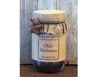 Primitive Candle, Country Candle, Rustic Candle, Olde Molasses Scented Jar Candle