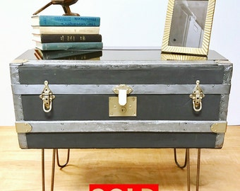 Items similar to hidden storage side table on etsy for Hidden storage side table