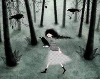 Follow me- Art print by Lumimari
