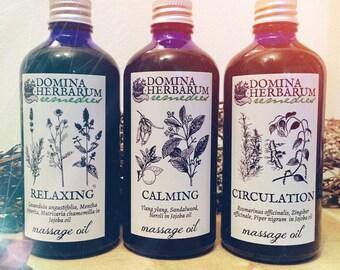 Aromatherapy massage blends