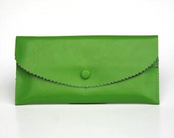 Womens Wallet, Leather Wallet, Green Wallet,  Green Purse