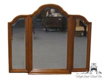 SUMTER CABINET Oak Tri Fold Dresser Mirror