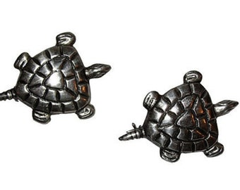 Mexican Sterling Turtle Pin, S/2