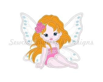 "Pretty Mermaid applique machine embroidery design- 3 sizes 4x4"", 5x7"", 6x10"""