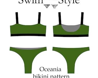 Oceania bikini pdf pattern Women swimsuit pattern