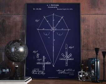 Kite Poster| Kite Patent| Kite| Kids Room Decor| Kites| Hand Kite| Wall Art Prints| Home Decor| Hand Kites| Patent Poster Prints| HPH143