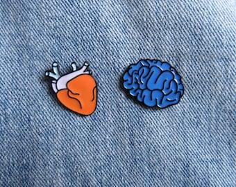 Brain enamel Pin, Anatomical Brain, Enamel Pin, Anatomy Pin